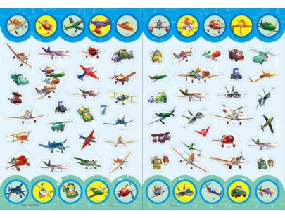 Planes Coloring Sticker Book