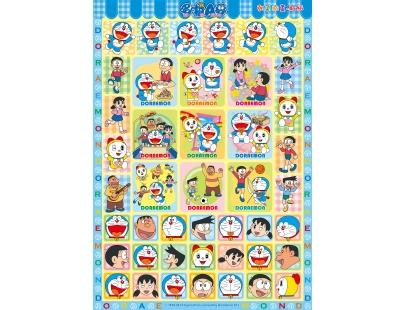 哆啦a梦 朝气贴画-贴纸页