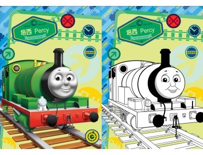 神奇水彩贴画 汤玛士小火车图片