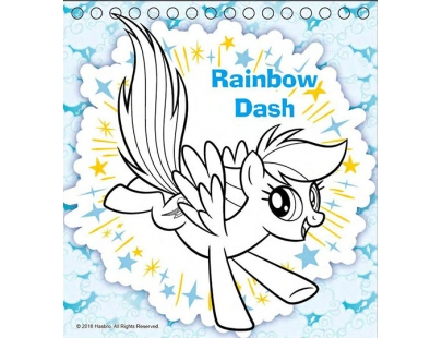 MLP_Mini Coloring Sticker Book with color pencils 21_1